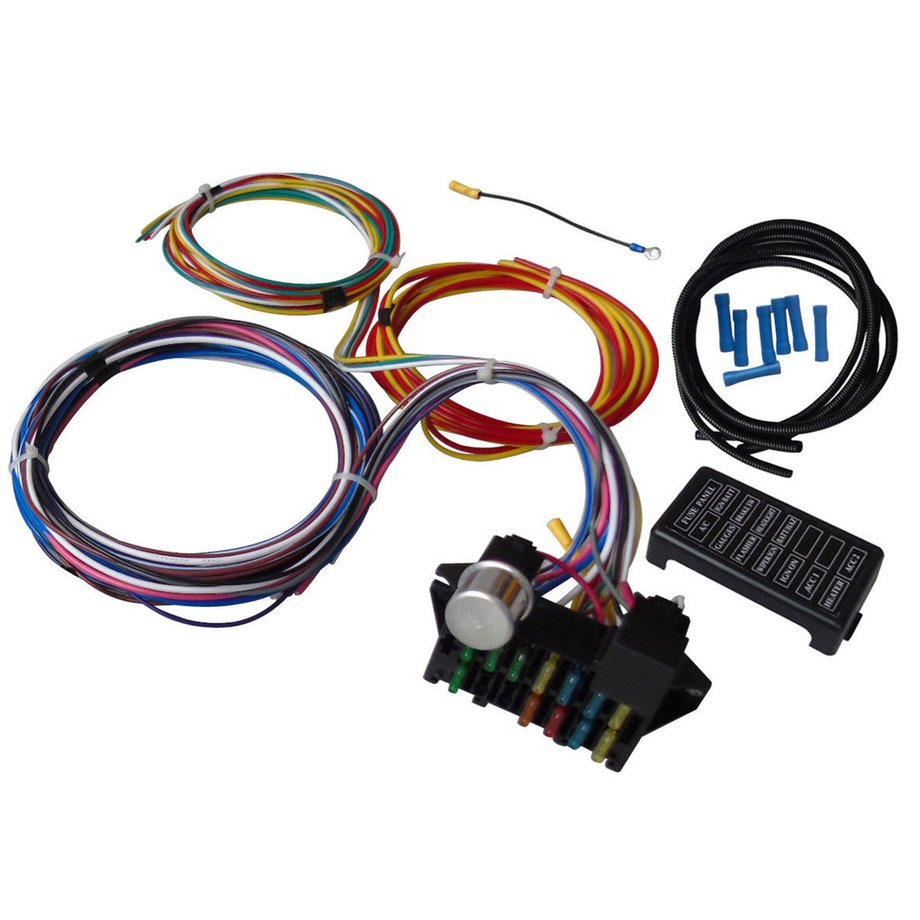 Cool 12 Circuit Universal Wiring Harness Muscle Car Hot Rod Street Rod Xl Wiring Cloud Intelaidewilluminateatxorg