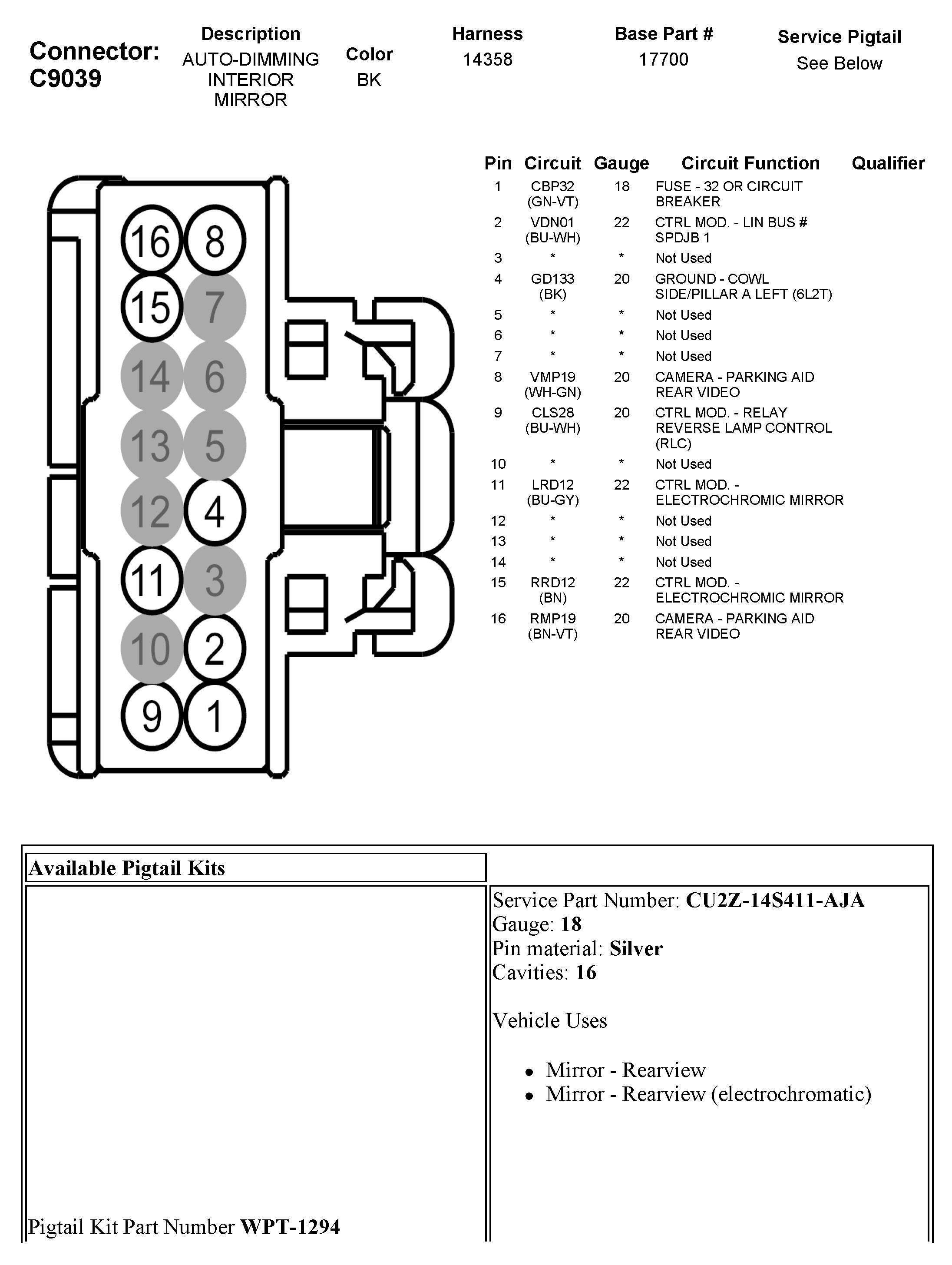 GR_0073] Auto Dimming Rear View Mirror Wiring Diagram Schematic WiringWww Mohammedshrine Librar Wiring 101