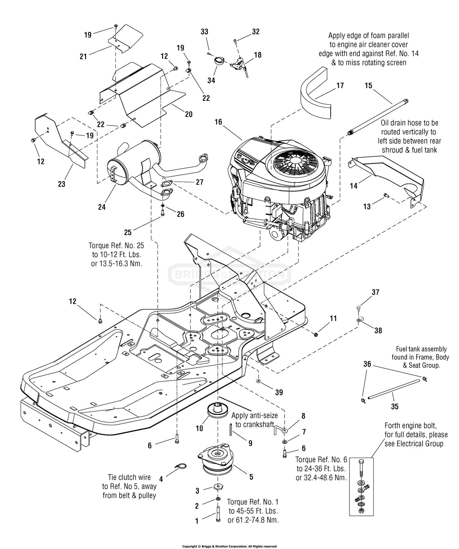 Cr 2733  Briggs 26 Stratton Engine Diagram Schematic Wiring