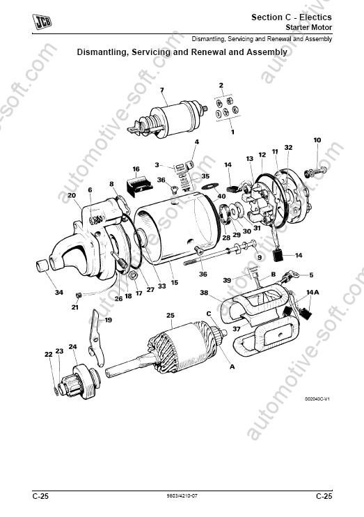 jcb 3cx starter motor wiring diagram lexus ls430 wiring