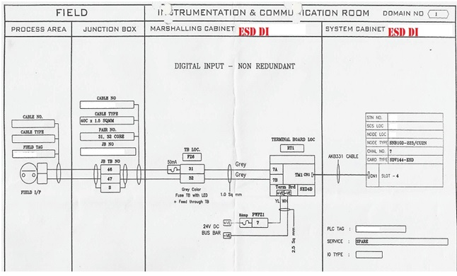 vy5561 image showing wiring diagram of a loop at the free