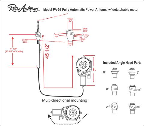 aftermarket power antenna wiring diagram  eaton br50spa