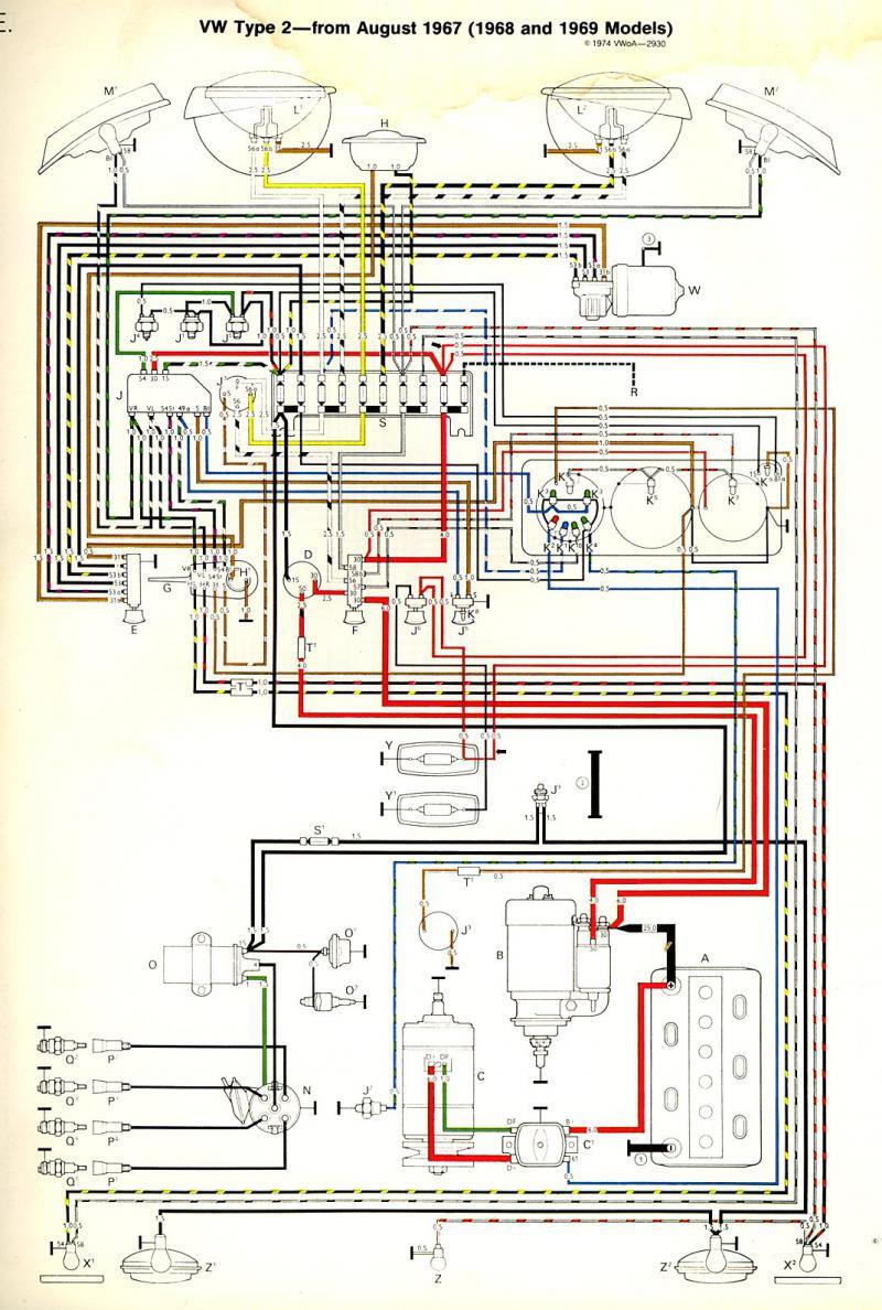 Vw Beetle Wiring Diagram 1968
