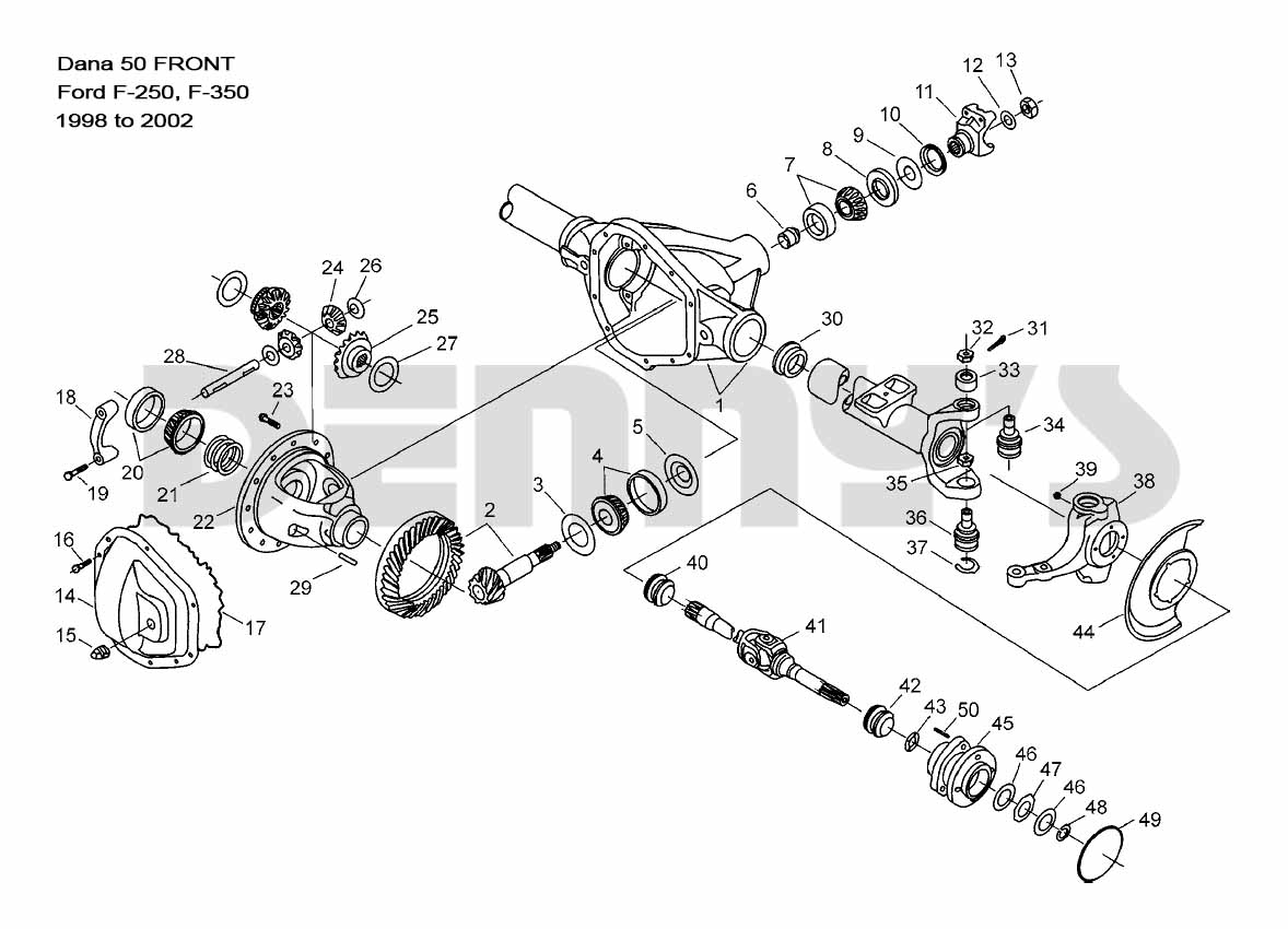DB_1396 Dana 44 Front Axle Diagram Schematic Wiring