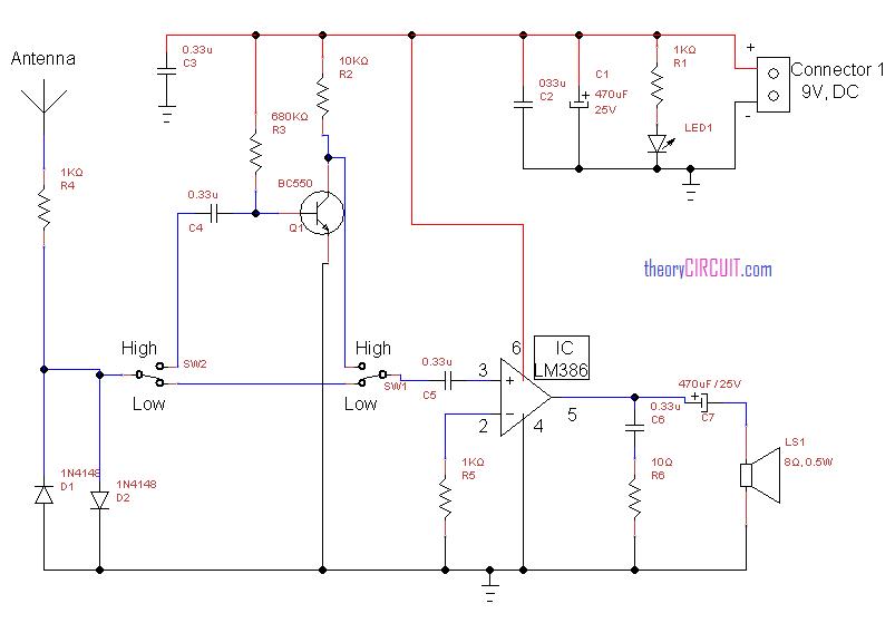 Fabulous Simple Rf Detector Circuit Audio Amplifier Schematic Circuits Wiring Cloud Monangrecoveryedborg