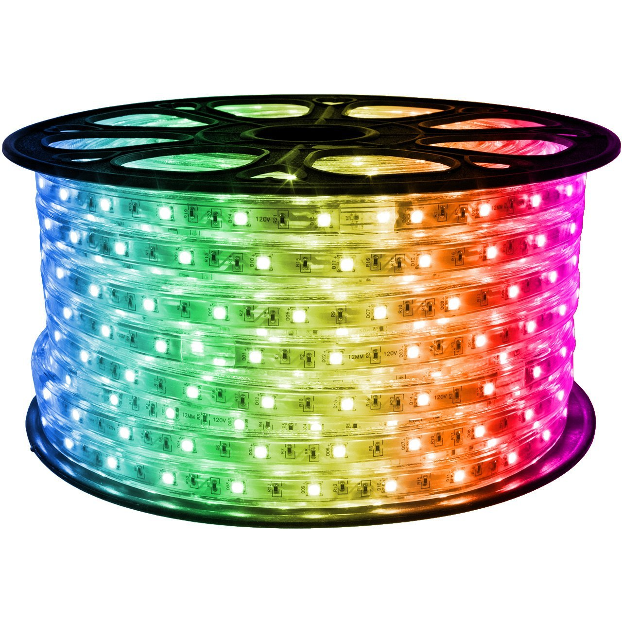 Swell Rgb Color Changing Led Strip Lights Spool Of 120 Volt Lights Wiring Cloud Staixaidewilluminateatxorg