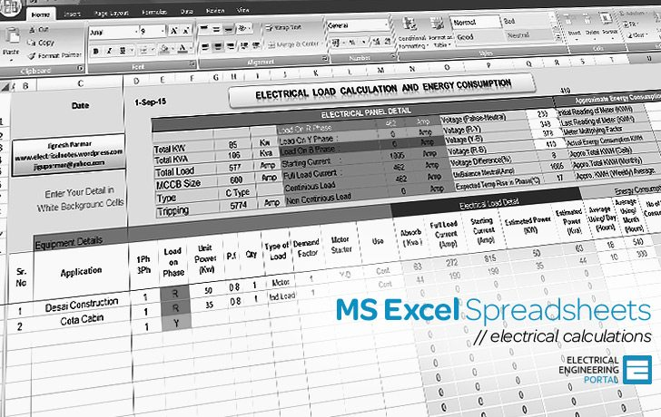 Cool Electrical Ms Excel Spreadsheets Wiring Cloud Ittabisraaidewilluminateatxorg