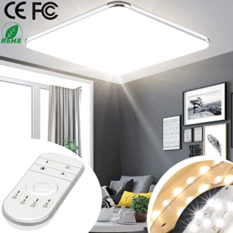 Cool Amazon Com 24W 18Inch Dimmable Led Ceiling Light Fixture Flush Wiring Cloud Cranvenetmohammedshrineorg