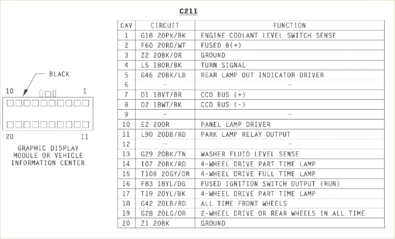 Radio Wiring Diagram For 1994 Jeep Grand Cherokee