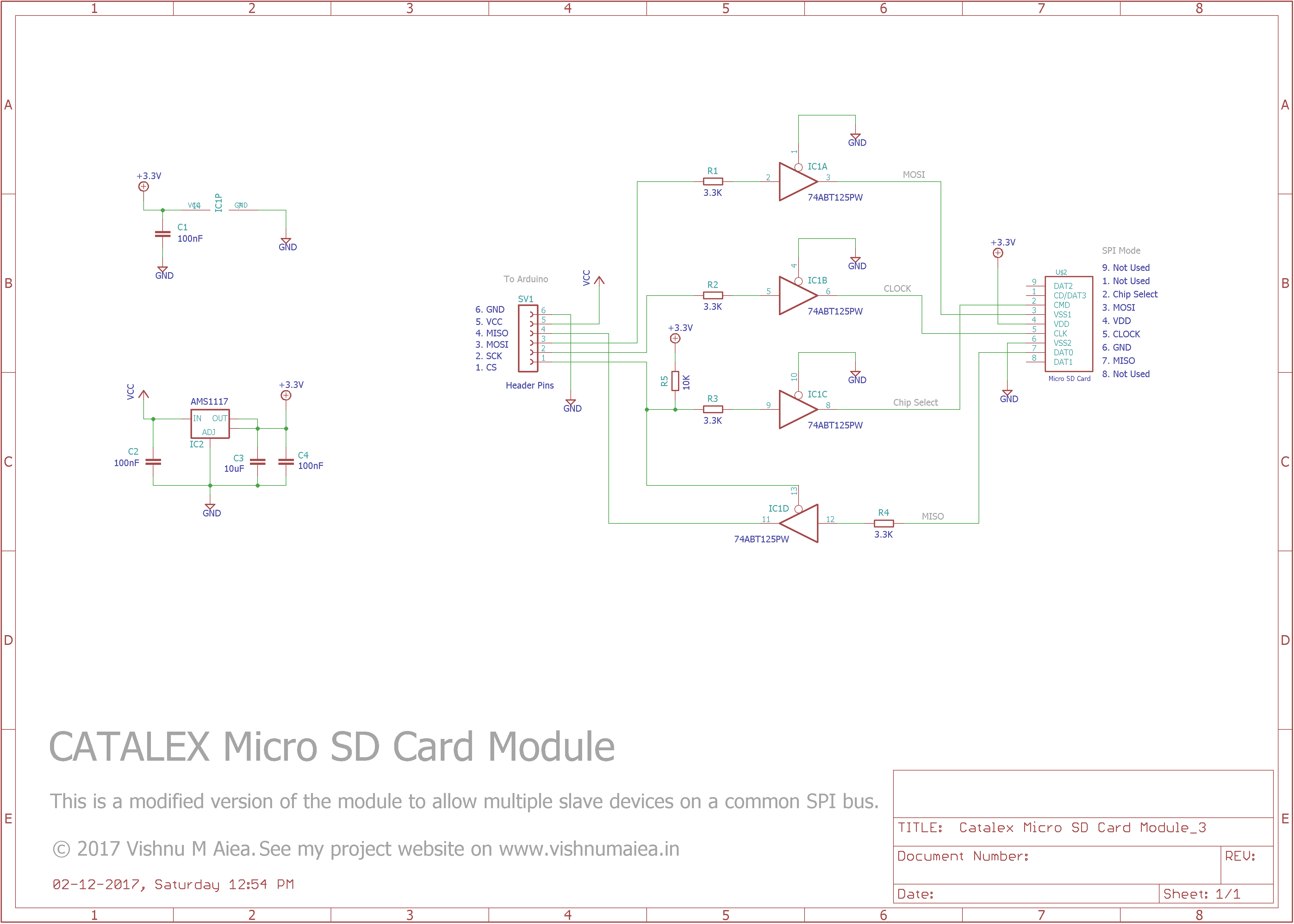 Brilliant Interfacing Catalex Microsd Card With Arduino Vishnu M Aiea Wiring Cloud Licukshollocom