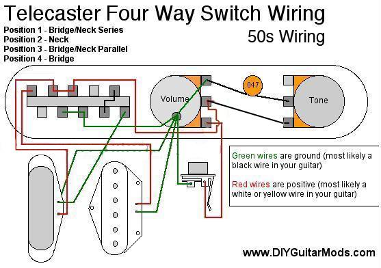 Hz 4734 Telecaster4waywiring Schematic Wiring