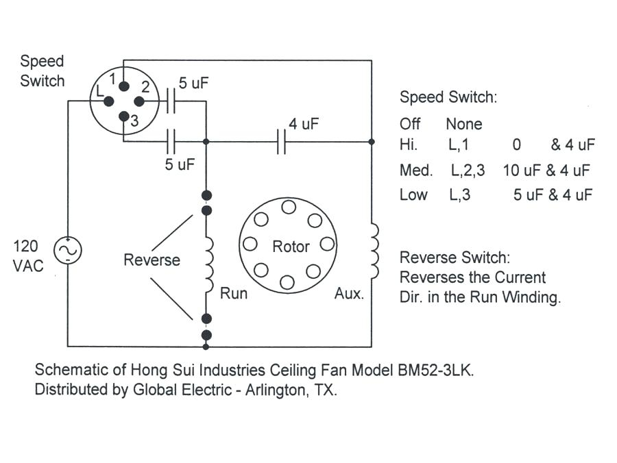 Ky 5615  Wiring Diagram For Ceiling Fan Capacitor Free