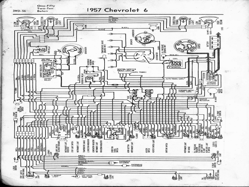 Tv 4449 1956 Bel Air Heater Wiring Schematic Schematic Wiring