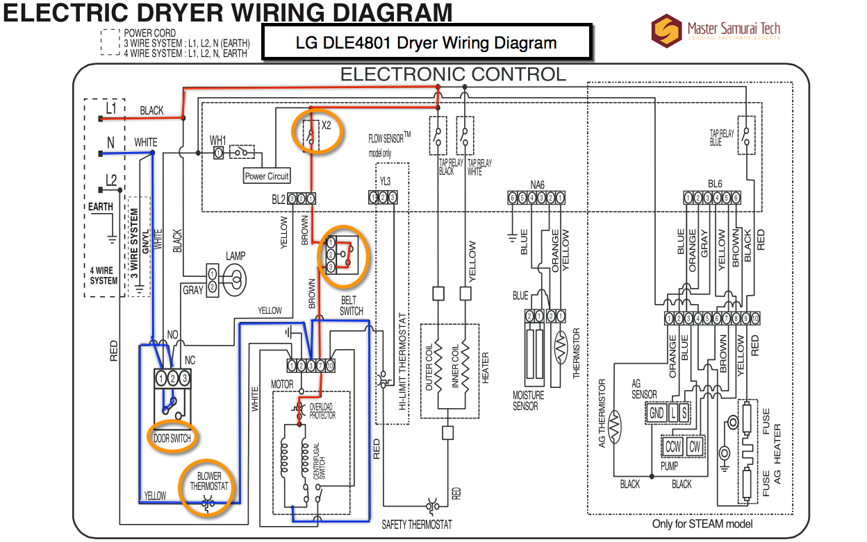 Pleasing Lg Dryer Wiring Diagram Wiring Diagram Database Wiring Cloud Licukshollocom