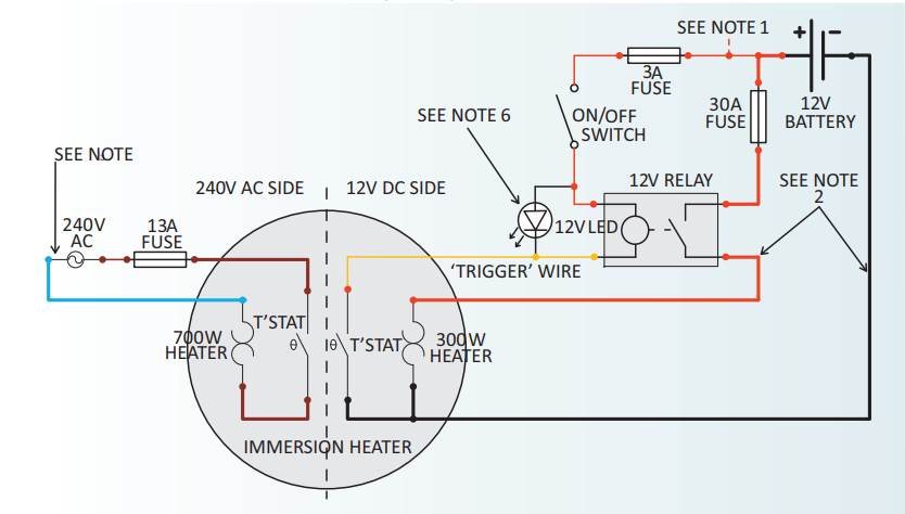 immersion heater wiring diagram  used oil burner wiring
