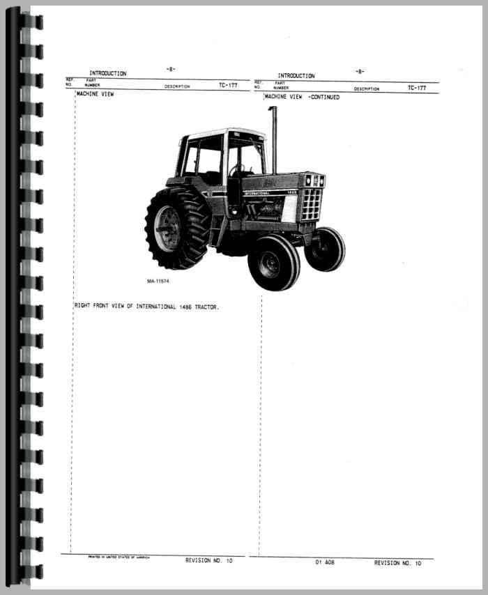 Zy 0267 1086 Ih Tractor Wiring Diagram Schematic Wiring