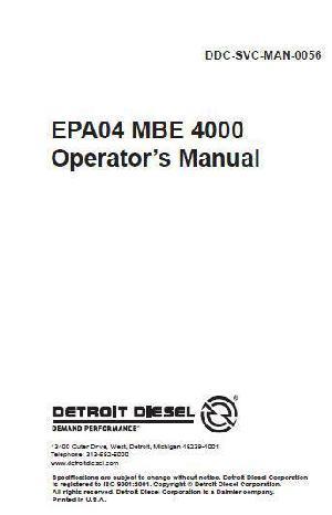 Yf 1214 Mbe 4000 Sensor Diagram Download Diagram
