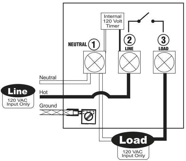 La 2355 Wiring Diagram Also 120 Volt Wall Timer Switch Tork On 110 Volt Wiring Diagram