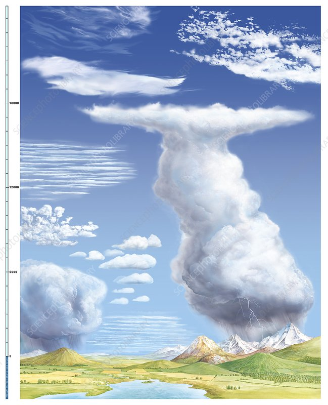 Outstanding Cloud Types Diagram Stock Image C014 4783 Science Photo Library Wiring Cloud Ymoonsalvmohammedshrineorg