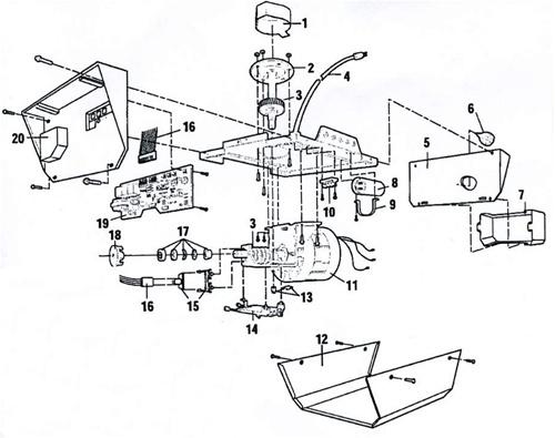 zo3771 sears garage door opener parts wiring harness