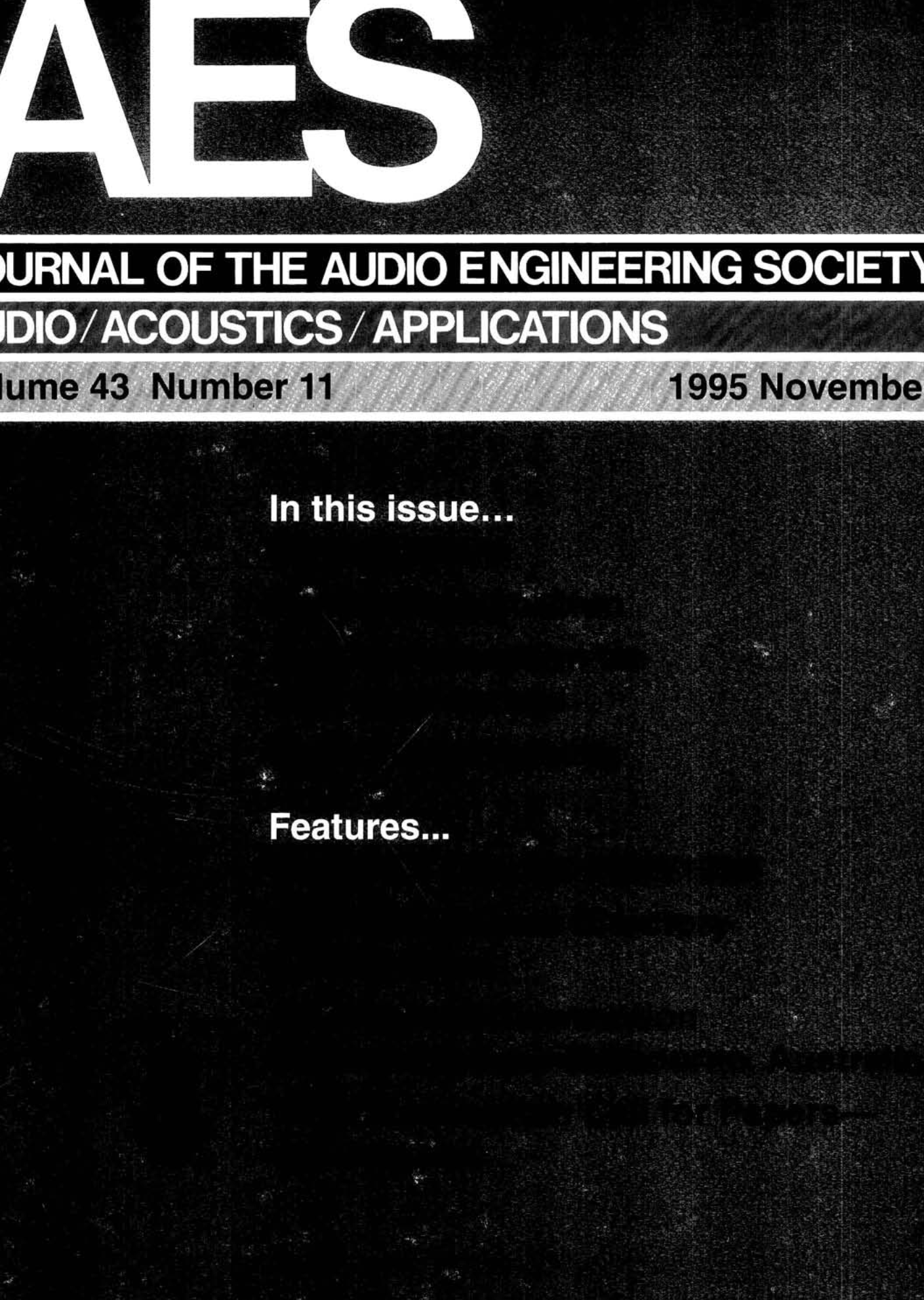 Tremendous Aes E Library Complete Journal Volume 43 Issue 11 Wiring Cloud Filiciilluminateatxorg