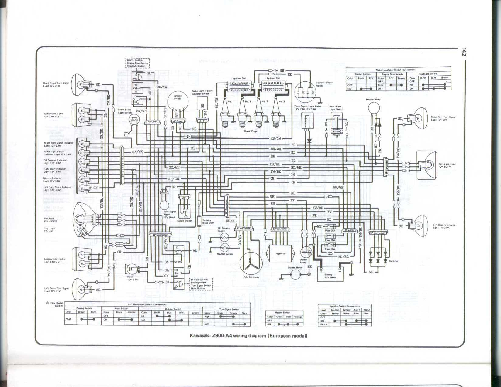 Yl 7939  Motorcycle Wiring Diagrams Also Kawasaki Kz1000