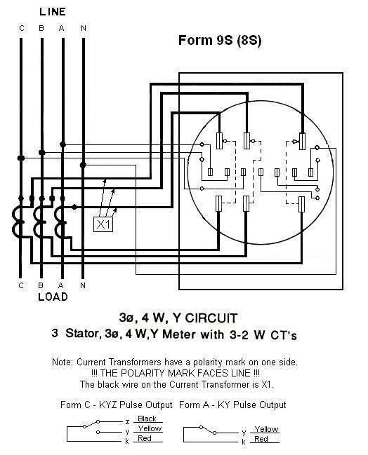 Sangamo Electric Meter Wiring Diagram