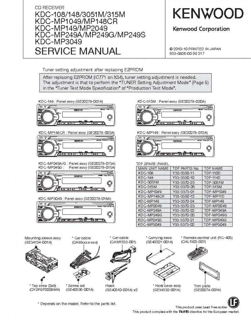 Kenwood Kdc 148 Radio Wiring Diagram