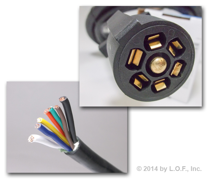 Surprising 4Ft Foot 7 Way Trailer Cable Cord Wire Harness Molded Light Plug Wiring Cloud Waroletkolfr09Org