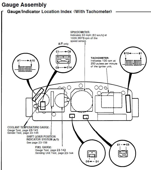 Honda Civic Tachometer Wiring Diagram