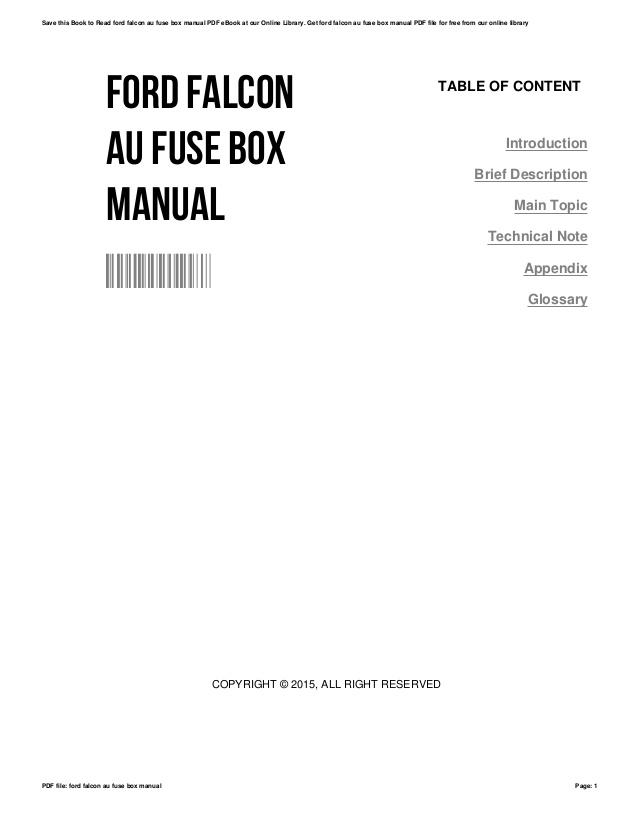Ford Fairmont Au Fuse Box 2005 Town Car Wiring Diagram 800sss Tukune Jeanjaures37 Fr