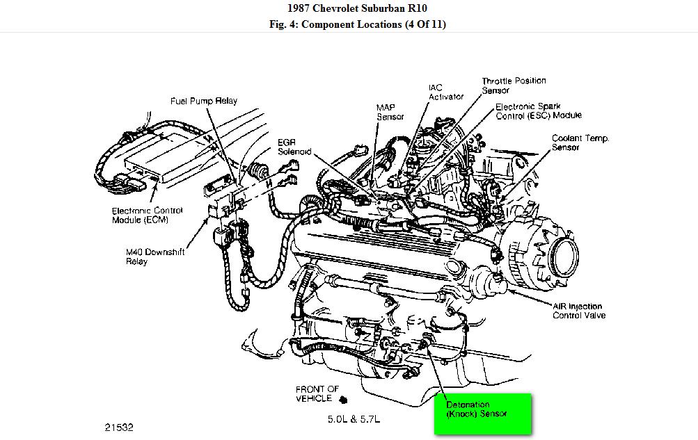 Tn 9116 Chevy 350 Heater Hose Diagram On 4 3 Vortec Knock Sensor Location On Wiring Diagram