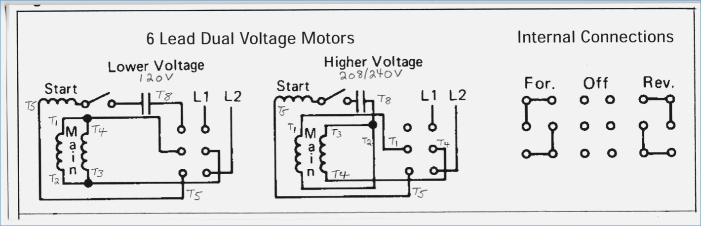 Wiring Diagram For Single Phase 240v Motor