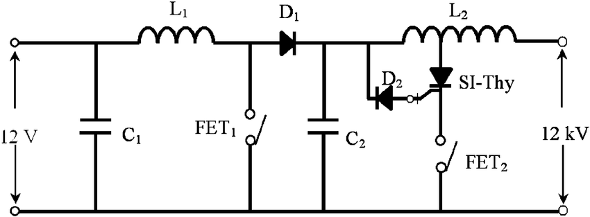 Awesome Electrical Circuit Of The Pulsed Power Generator Shown In Fig 7 Wiring Cloud Faunaidewilluminateatxorg