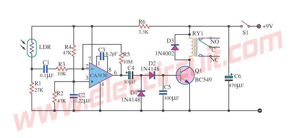 Enjoyable 2 Light Detector Circuits Using Ic 555 And C3140 Meters Wiring Cloud Mousmenurrecoveryedborg