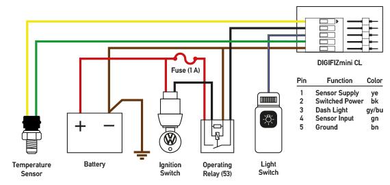 Wiring Diagram For Temp Gauge