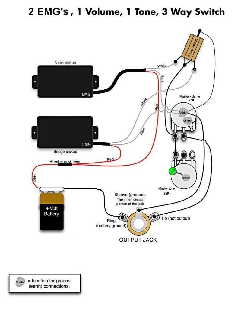Stupendous Electric Guitar Wiring Diagrams Olp 2 Pickups 2 Wires 1 Volume Wiring Cloud Inklaidewilluminateatxorg