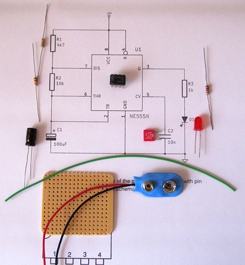Astounding Making A Stripboard Circuit Building And Soldering A Led Flasher Wiring Cloud Vieworaidewilluminateatxorg