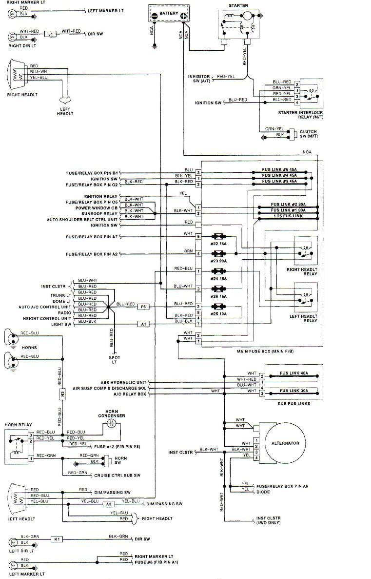 Bf 2170 95 Subaru Legacy Headlight Wiring Layout Wiring Diagram