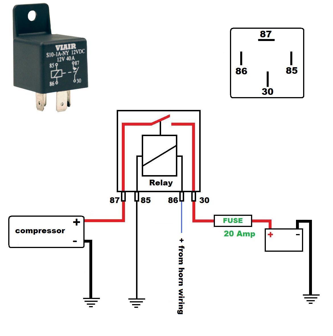 [DIAGRAM_38EU]  GA_6836] 12V Air Horn Wiring Diagram Schematic Wiring | Relay Wiring Diagram For Air Horns |  | Pendu Greas Wigeg Mohammedshrine Librar Wiring 101
