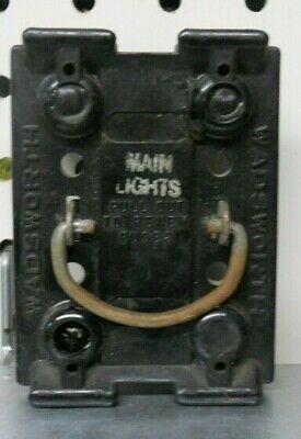 Remarkable Vintage Wadsworth 60 Amp Main Fuse Pullout Panel W Vintage Fuses Wiring Cloud Licukshollocom