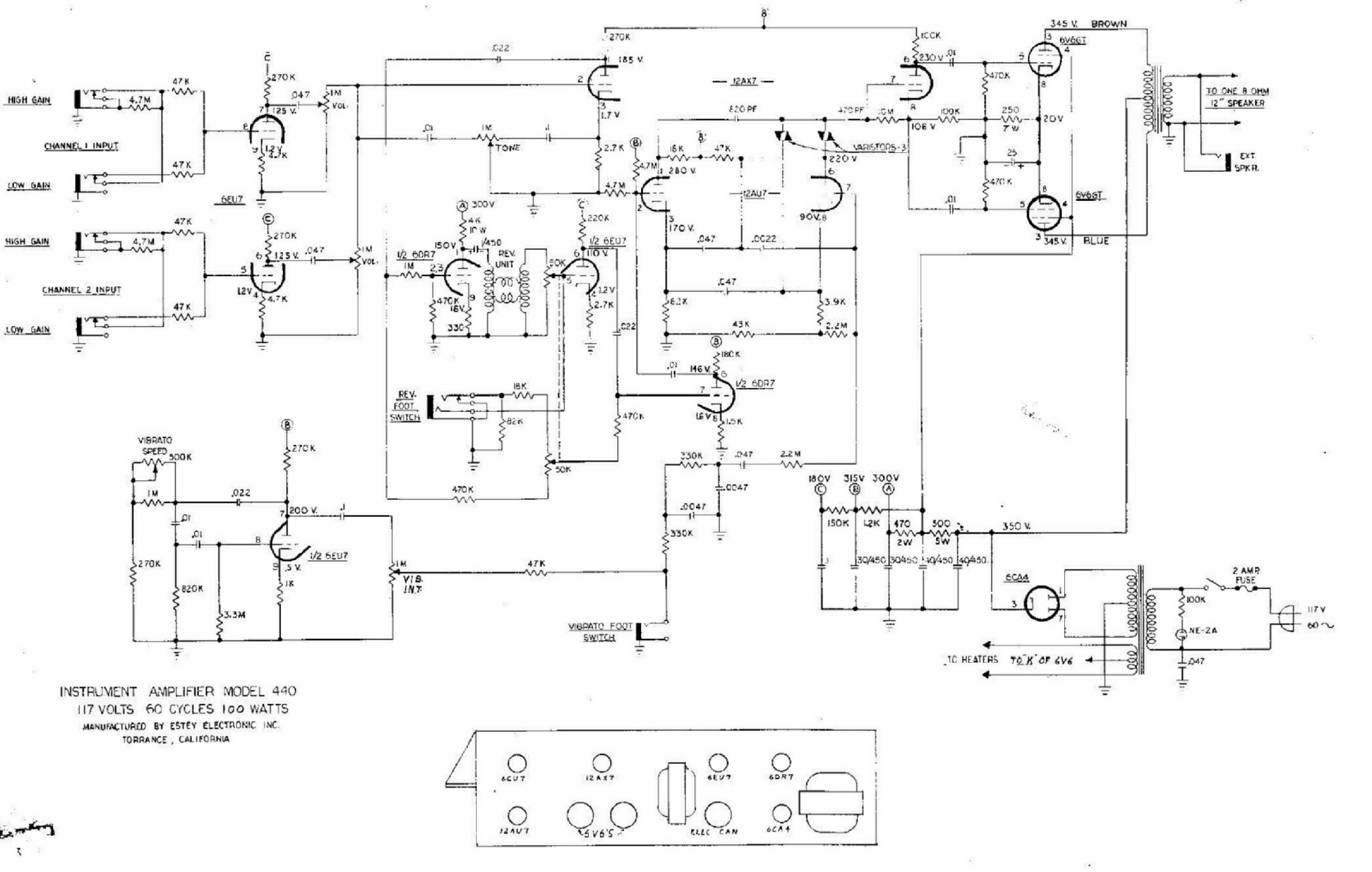 OL_4051] Vintage Magnatone Amplifier Schematic Download DiagramErek Norab Denli Mohammedshrine Librar Wiring 101