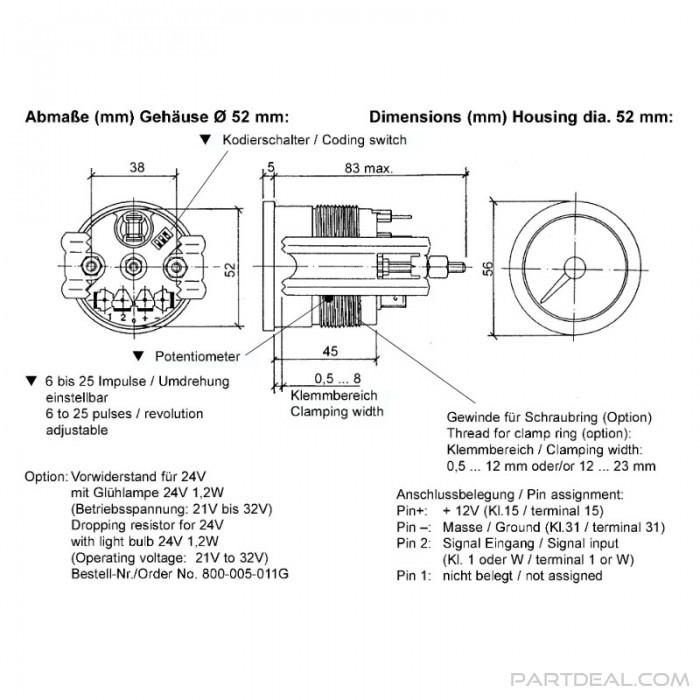 WA_9218] Vdo Tachometer Wiring Diagram 4000 Wiring Diagram