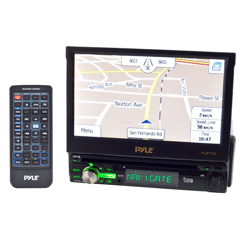 Pleasing Pyle Plbt72G Single Din 7 Inch Wide In Dash Tft Lcd Touch Screen Wiring Cloud Intelaidewilluminateatxorg