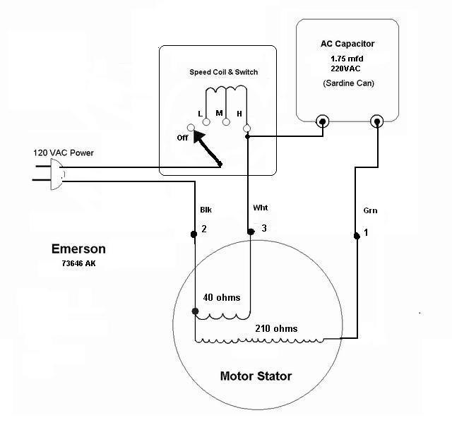 Emerson Motor Wiring Schematic