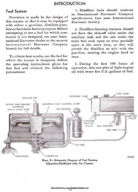 of9376 tractor farmall c wiring diagram gasoline schematic