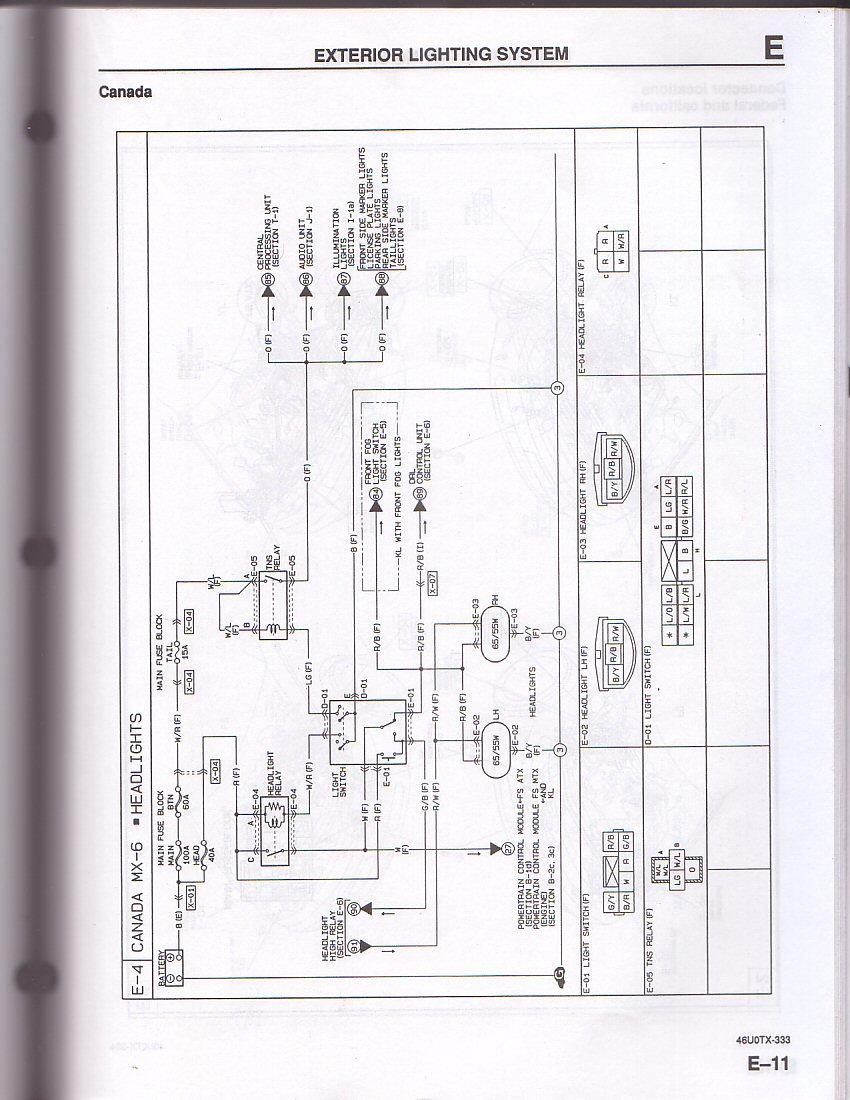 ford probe wiring diagrams ys 3058  mazda mx6 distributor wiring diagram wiring diagram  mazda mx6 distributor wiring diagram