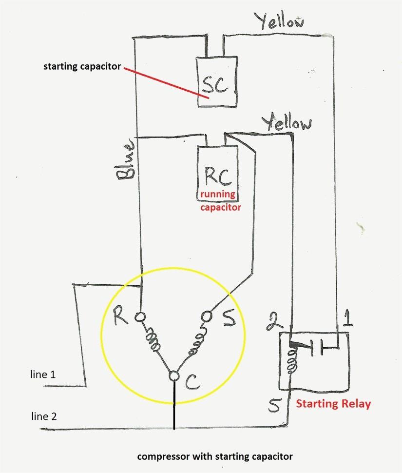 refrigerator compressor wiring