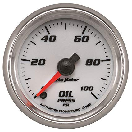 Fabulous Autometer 19752 Pro Cycle Oil Pressure Gauge 2 1 16 In White Dial Wiring Cloud Genionhyedimohammedshrineorg