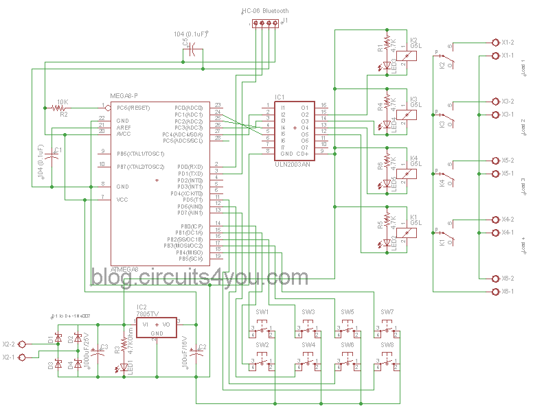 My 8474 Bluetooth Based Home Automation Circuits4youcom